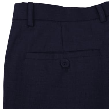 vidaXL Men's Dress Pants Navy Size 54[5/7]