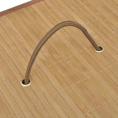 vidaXL Tvättkorg i bambu rektangulär naturfärg[5/6]