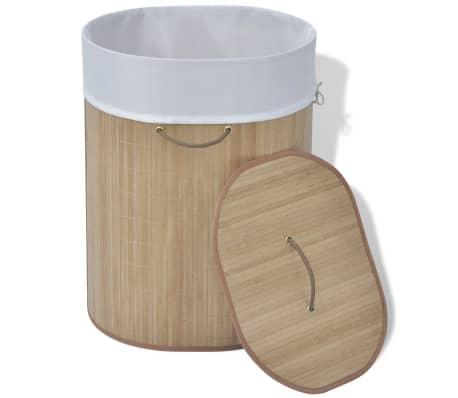 vidaXL Bambus-Wäschekorb Oval Natur[2/5]