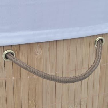 vidaXL Cesto de la ropa sucia de bambú ovalado color natural[4/5]