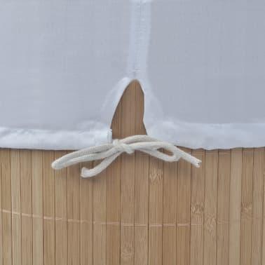 vidaXL Cesto de la ropa sucia de bambú ovalado color natural[5/5]