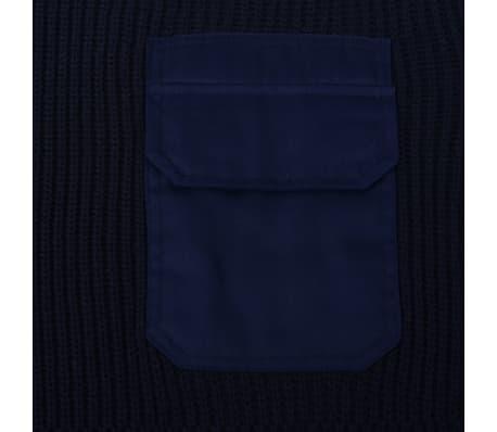 vidaXL Pulover de lucru pentru bărbați, bleumarin, mărime XXL[2/5]
