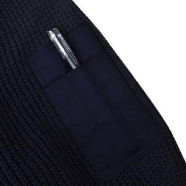 vidaXL Pulover de lucru pentru bărbați, bleumarin, mărime XXL[3/5]