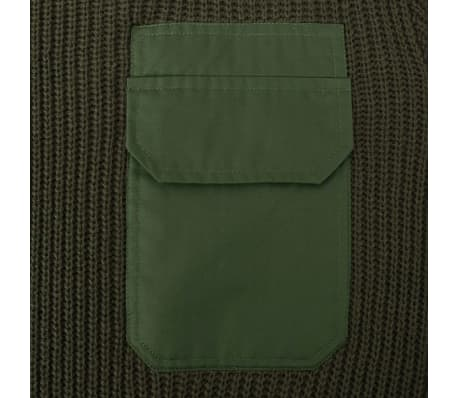 vidaXL Pulover de lucru pentru bărbați, verde kaki, mărime M[2/5]