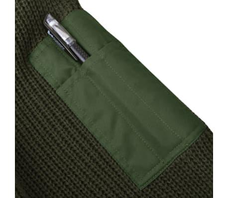 vidaXL Pulover de lucru pentru bărbați, verde kaki, mărime M[3/5]