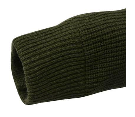 vidaXL Pulover de lucru pentru bărbați, verde kaki, mărime M[4/5]