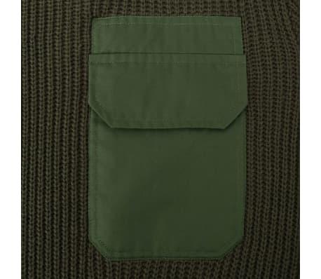 vidaXL Pulover de lucru pentru bărbați, verde kaki, mărime XL[2/5]
