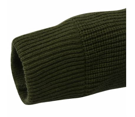 vidaXL Pulover de lucru pentru bărbați, verde kaki, mărime XL[4/5]
