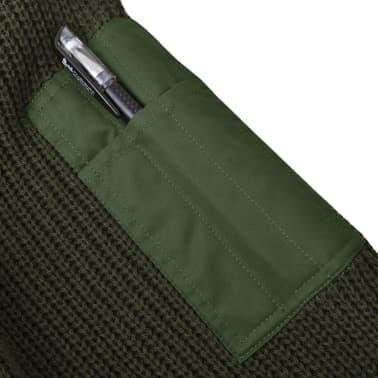 vidaXL Pulover de lucru pentru bărbați, verde kaki, mărime XL[3/5]