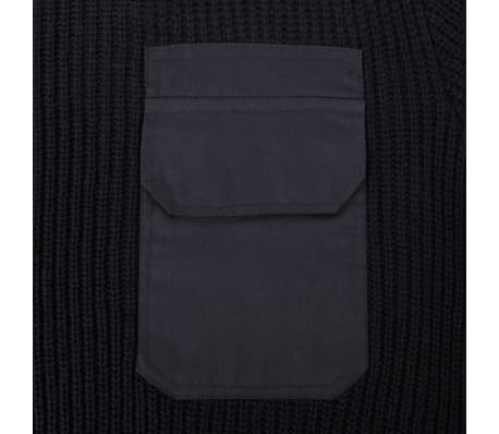vidaXL Pulover de lucru pentru bărbați, negru, mărime M[2/5]