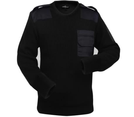 vidaXL Pulover de lucru pentru bărbați, negru, mărime XL