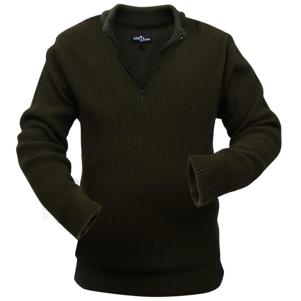 vidaXL Arbeidsgenser til Mann Militærgrønn Størrelse L