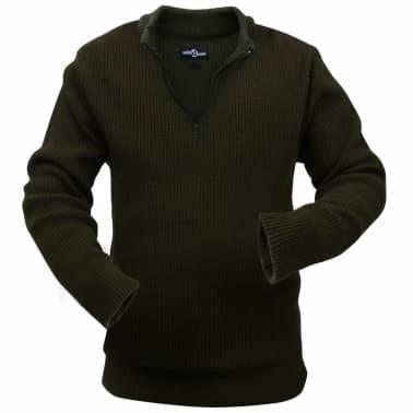 vidaXL Pulover de lucru pentru bărbați, Verde kaki, Mărime XL[1/4]