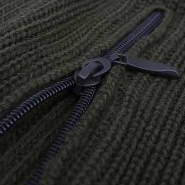 vidaXL Pulover de lucru pentru bărbați, Verde kaki, Mărime XL[2/4]