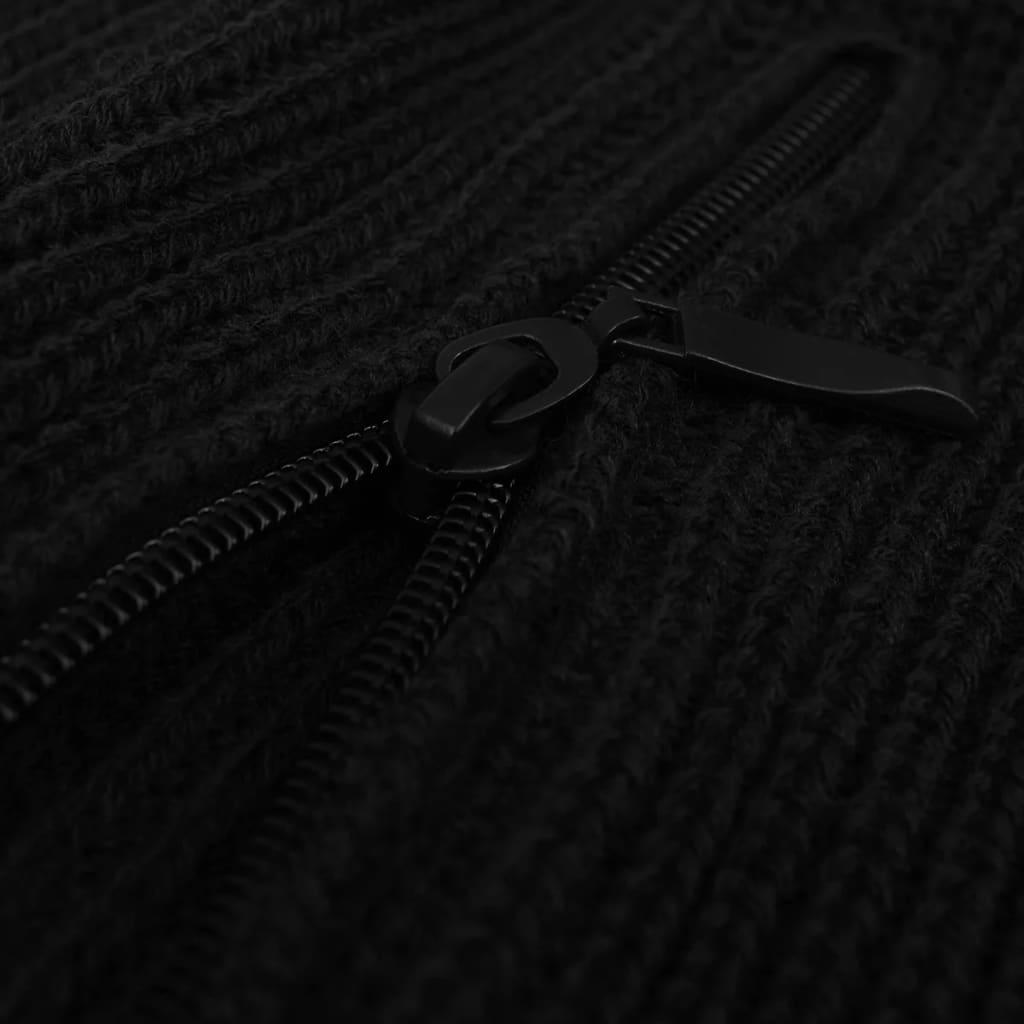 vidaXL Pánský pracovní svetr černý vel. M