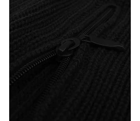 vidaXL Pulover de lucru pentru bărbați, mărime M, negru[2/4]