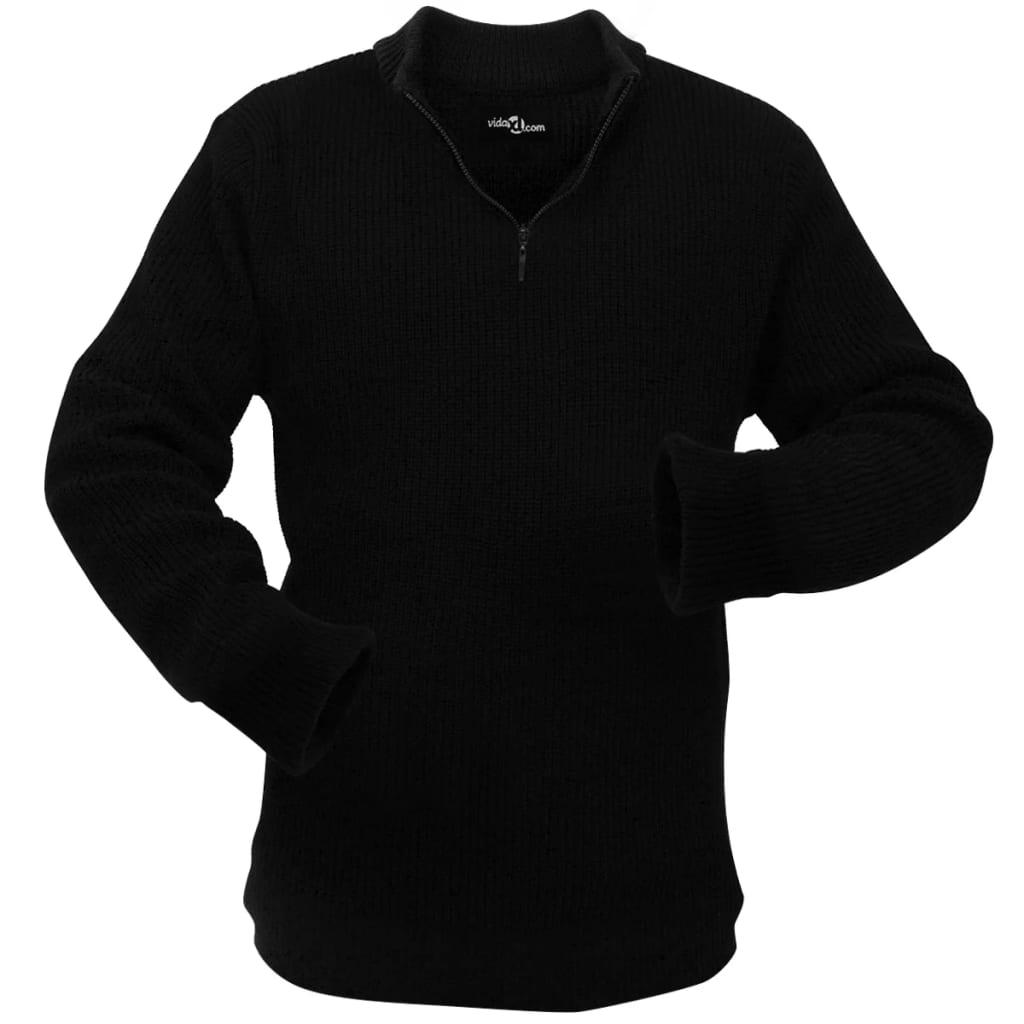 vidaXL Pulover de lucru pentru bărbați, mărime XL, negru poza vidaxl.ro