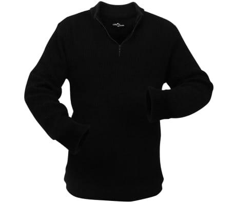 vidaXL Pulover de lucru pentru bărbați, mărime XL, negru