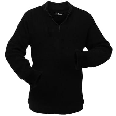 vidaXL Pulover de lucru pentru bărbați, mărime XL, negru[1/4]