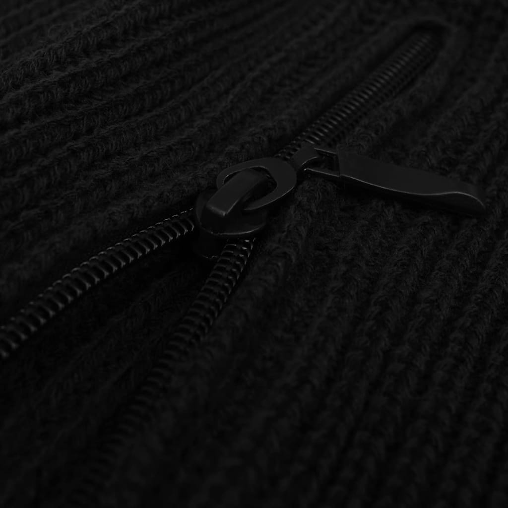 vidaXL Pánský pracovní svetr černý vel. XL