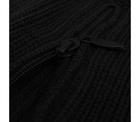 vidaXL Pulover de lucru pentru bărbați, mărime XL, negru[2/4]