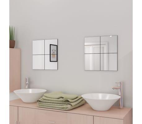 acheter vidaxl carreaux de miroir verre sans cadre 8 pcs 20 5 cm pas cher. Black Bedroom Furniture Sets. Home Design Ideas