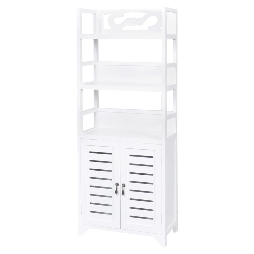 99242689 Badezimmerschrank Albuquerque Holz Weiß 46x24x117,5 cm