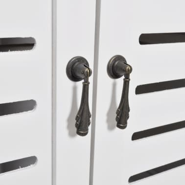 "vidaXL Bathroom Cabinet Albuquerque Wood White 18""x9.4""x46.3""[4/6]"