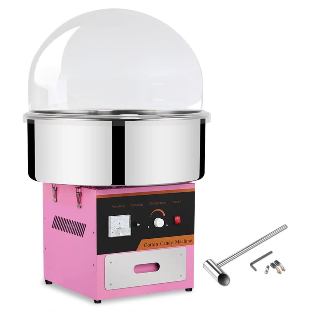 Aparat pentru vată de zahăr profesional cu capac, 1 kW poza vidaxl.ro
