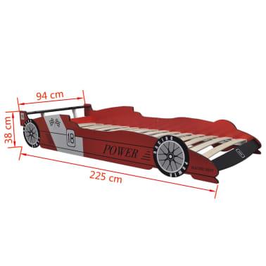 vidaXL Letto per Bambini Auto da Corsa 90x200 cm Rosso  vidaXL.it