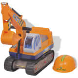 vidaXL Ride-on Excavator Plastic Yellow