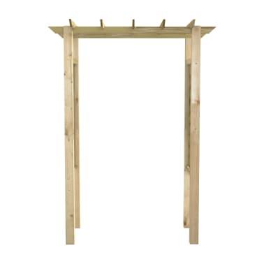 vidaXL Pérgola/Arco de rosas madera impregnada FSC 150x50x200 cm[2/3]