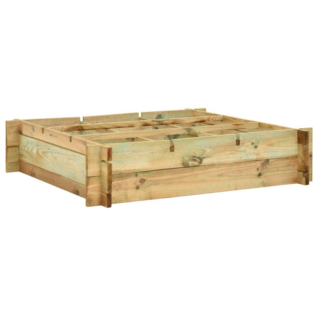 Vyvýšený záhon 90 x 90 x 20 cm impregnované dřevo