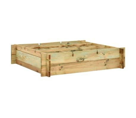 vidaXL Vyvýšený záhon 90x90x20 cm, impregnované drevo