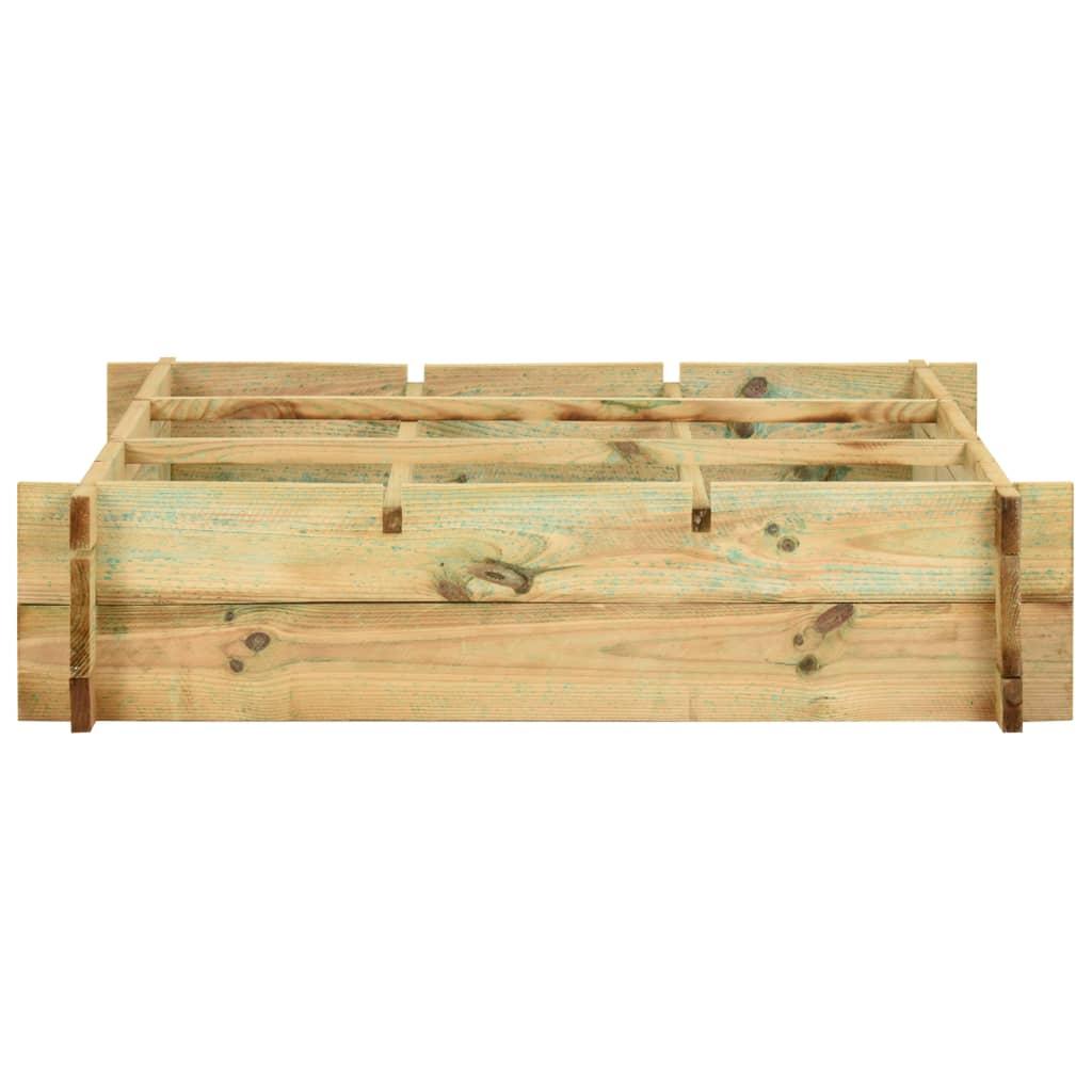 vidaXL Plantenbak 90x90x20 cm FSC-gecertificeerd hout