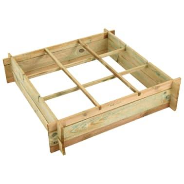 vidaXL Pflanzkasten 90 x 90 x 20 cm Imprägniertes Holz[3/3]