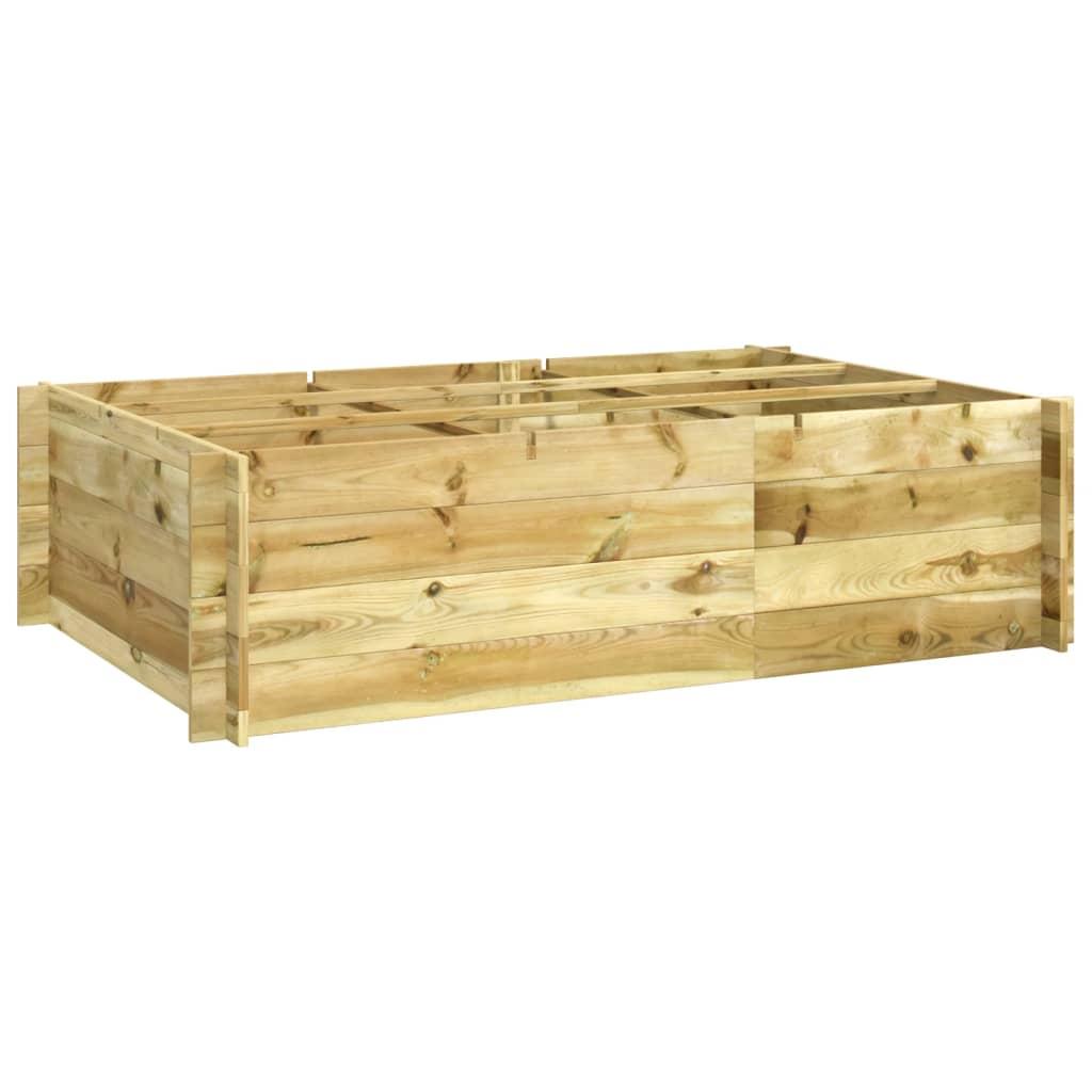 Impregnovaný dřevěný květník / truhlík 150 x 100 x 40 cm
