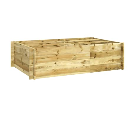vidaXL Vaso/floreira 150x100x40 cm madeira impregnada-picture