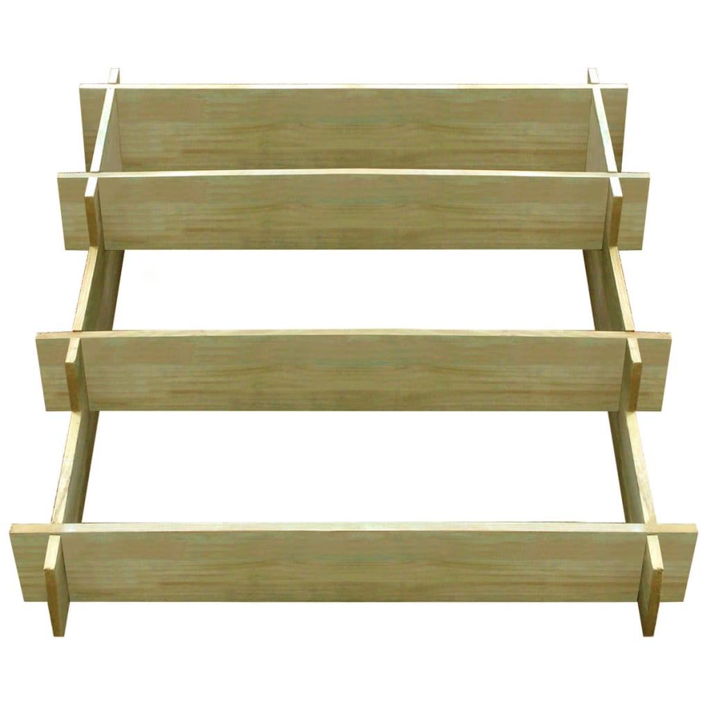 vidaXL Plantenbak drielaags 90x90x35 cm FSC geïmpregneerd hout