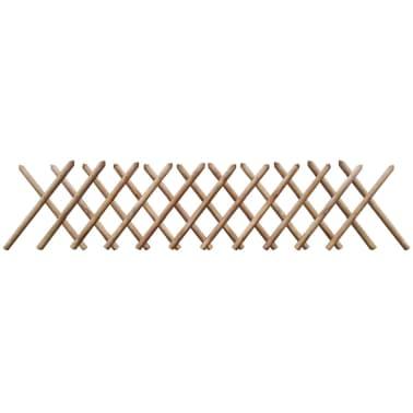 vidaXL Ograja iz FSC impregnirane borovine 250x60 cm[1/3]