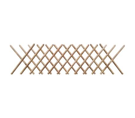 vidaXL Valla enrejada extesible madera impregnada FSC 250x80 cm[1/3]