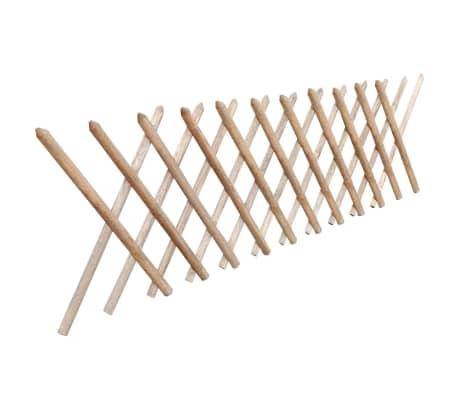 vidaXL Valla enrejada extesible madera impregnada FSC 250x80 cm[2/3]