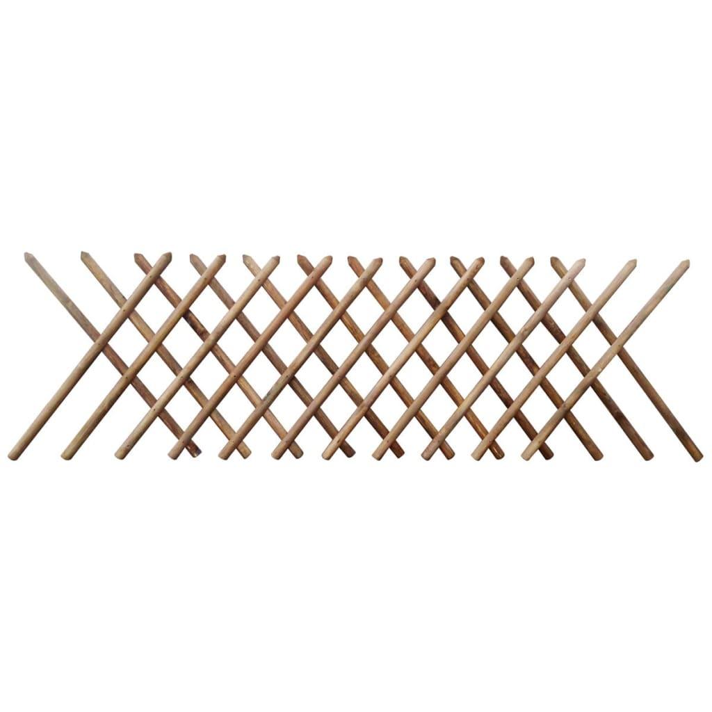 vidaXL Gard cu zăbrele, 250 x 100 cm, lemn tratat poza vidaxl.ro