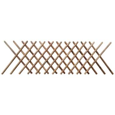 vidaXL Valla enrejada de madera impregnada 250x100 cm[1/3]
