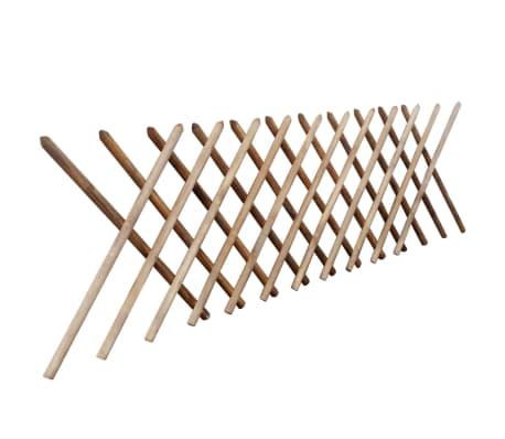 vidaXL Gard cu zăbrele, 250 x 100 cm, lemn tratat[2/3]