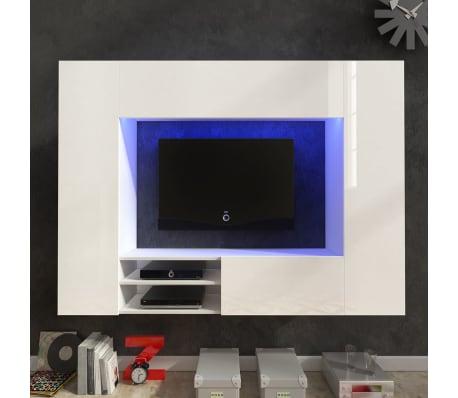 Acheter Unite Murale De 169 2 Cm En Blanc Brillant Pour Tv Led Pas
