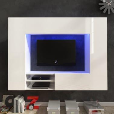 hochglanz mediawand wohnwand led tv wand wei 169 2 cm g nstig kaufen. Black Bedroom Furniture Sets. Home Design Ideas