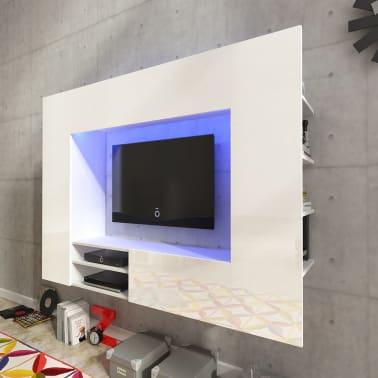 Hochglanz Mediawand Wohnwand Led Tv Wand Weiss 169 2 Cm Gunstig