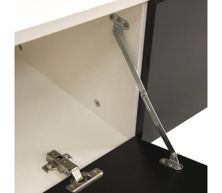 wandkast tv unit led verlichting zwart 250 cm 7 st online kopen. Black Bedroom Furniture Sets. Home Design Ideas