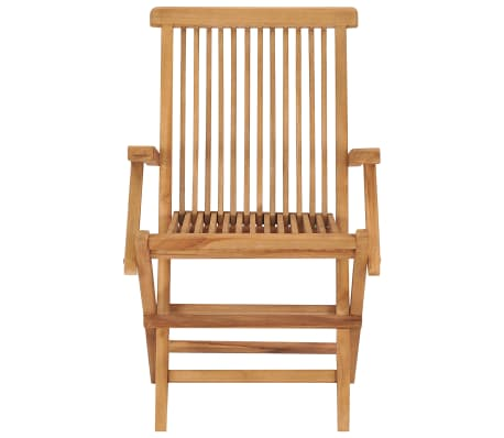 vidaXL Folding Garden Chairs 2 pcs Solid Teak Wood[3/5]